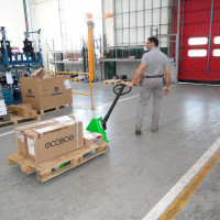 Low lifting hand pallet truck